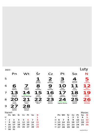 fotokalendarz 13 stronicowy biały 02