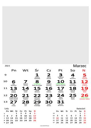 fotokalendarz 13 stronicowy biały 03