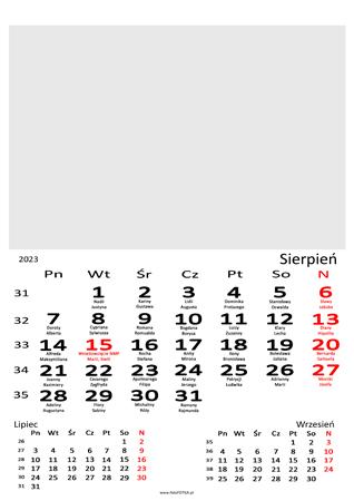 fotokalendarz 13 stronicowy biały 08