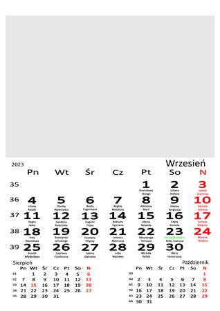 fotokalendarz 13 stronicowy biały 09