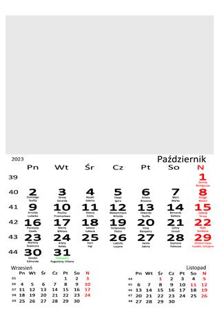 fotokalendarz 13 stronicowy biały 10