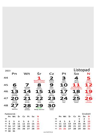fotokalendarz 13 stronicowy biały 11