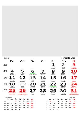 fotokalendarz 13 stronicowy biały 12