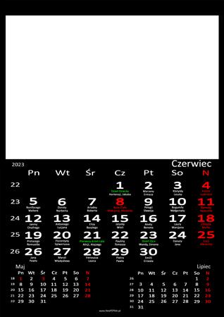 fotokalendarz 13 strony Czarny 06