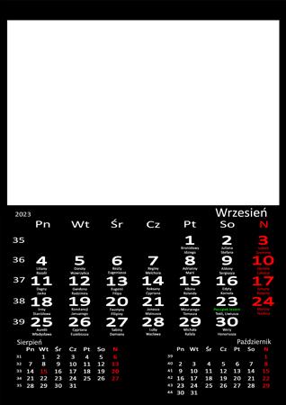fotokalendarz 13 strony Czarny 09