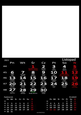 fotokalendarz 13 strony Czarny 11