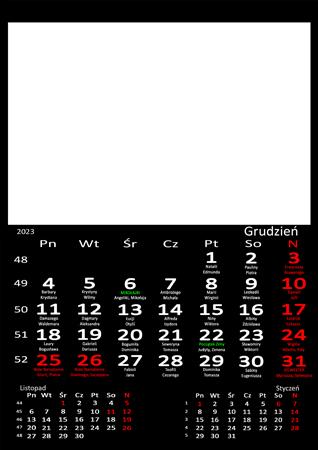 fotokalendarz 13 strony Czarny 12