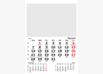 Fotokalendarz biały