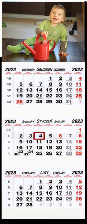 fotokalendarz trójdzielny