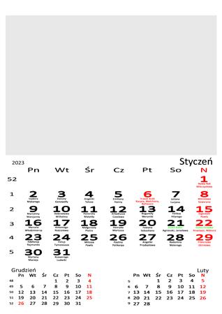 fotokalendarz 13 stronicowy biały 01