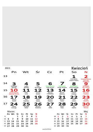 fotokalendarz 13 stronicowy biały 04