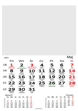 fotokalendarz 13 stronicowy biały 05