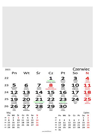 fotokalendarz 13 stronicowy biały 06