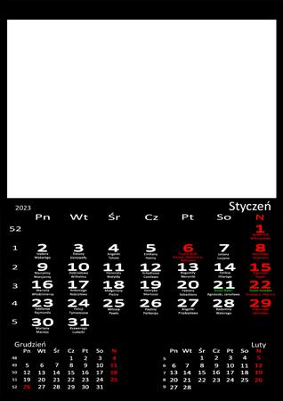 fotokalendarz 13 strony Czarny 01