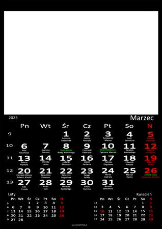 fotokalendarz 13 strony Czarny 03
