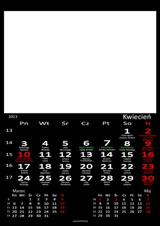 fotokalendarz 13 strony Czarny 04