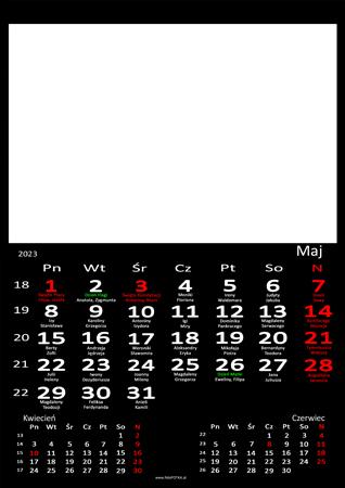 fotokalendarz 13 strony Czarny 05