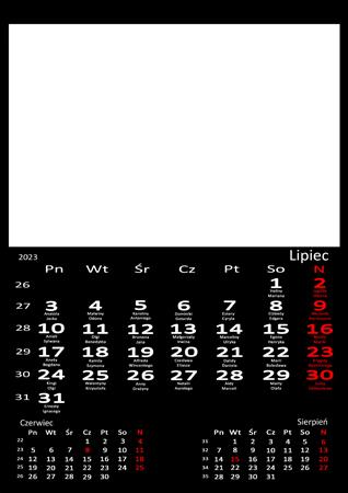 fotokalendarz 13 strony Czarny 07