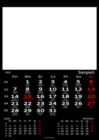 fotokalendarz 13 strony Czarny 08