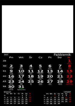 fotokalendarz 13 strony Czarny 10